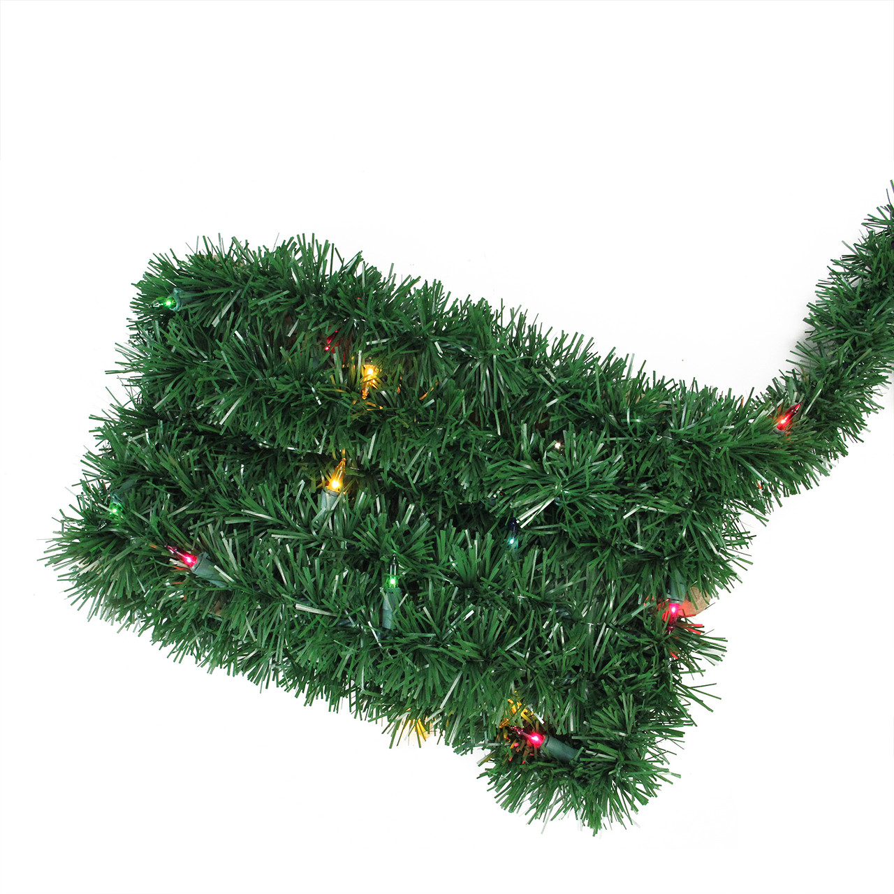"12\' x 2.5"" Pre-Lit Green Pine Artificial Christmas Garland - Multi ..."