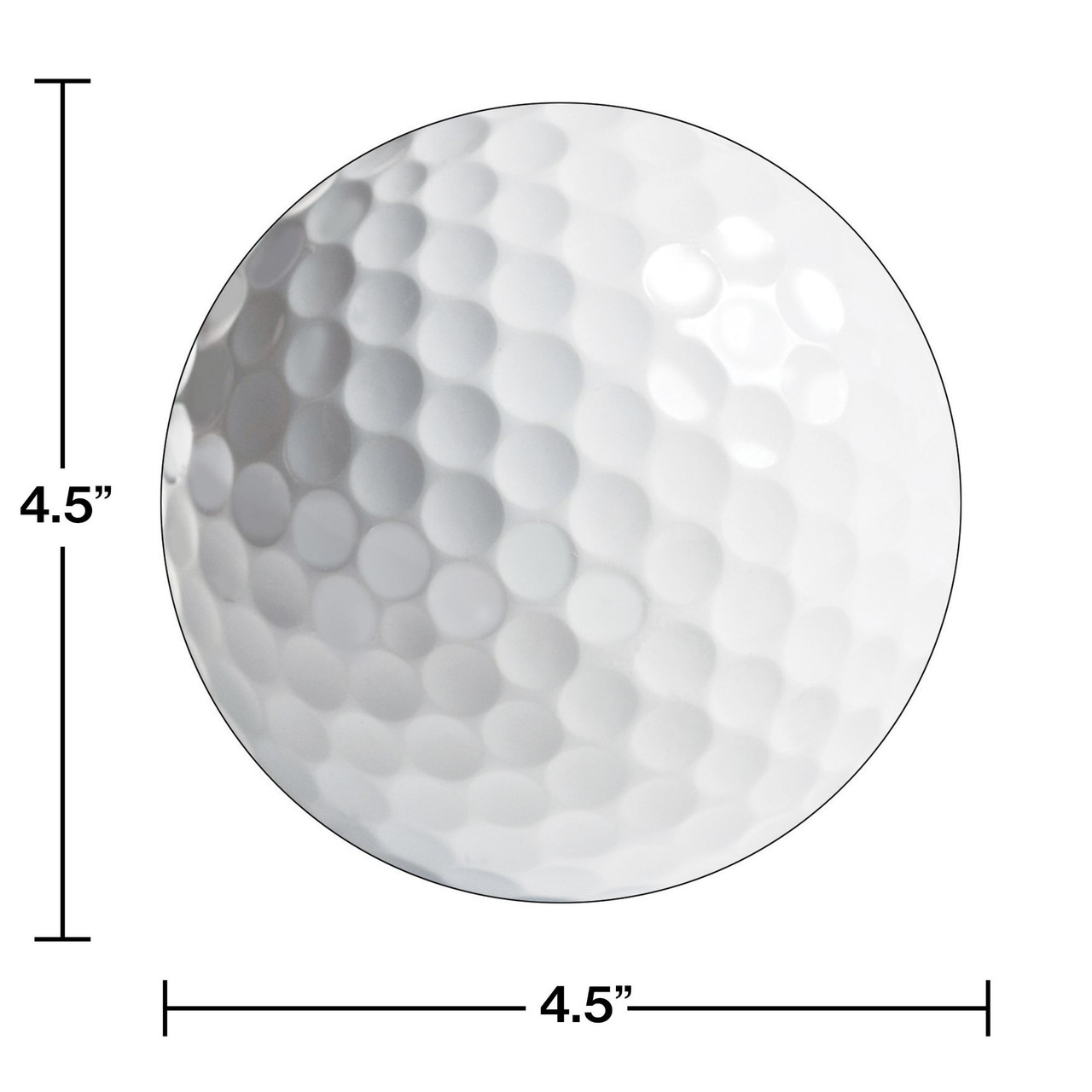 Club Pack of 48 Sports Fanatic- Golf Ball Paper Birthday Party ...