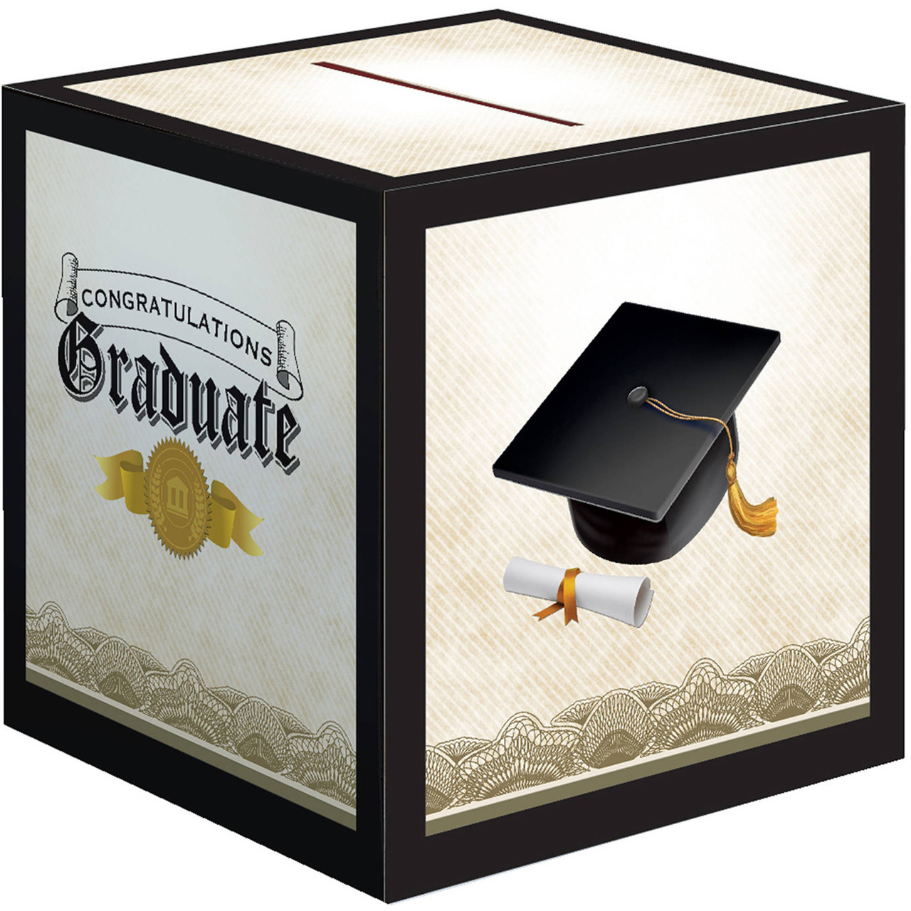 Club Pack of 6 Cap & Gown Congratulations Graduate Decorative ...