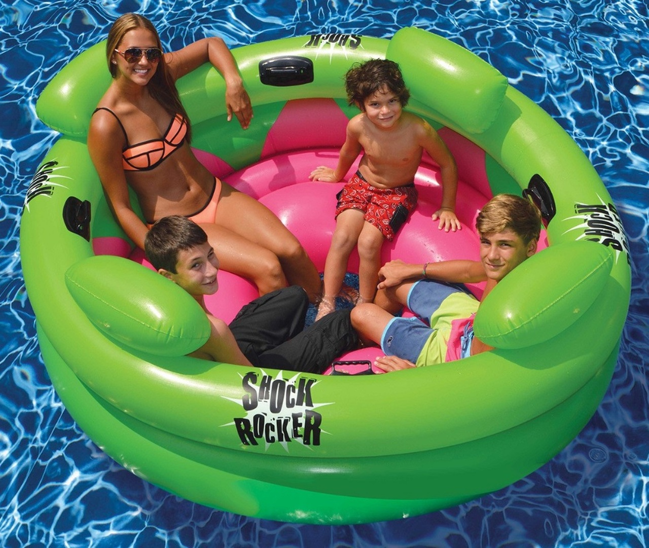 75 Water Sports Inflatable Shock Rocker Swimming Pool Float Toy Christmas Central