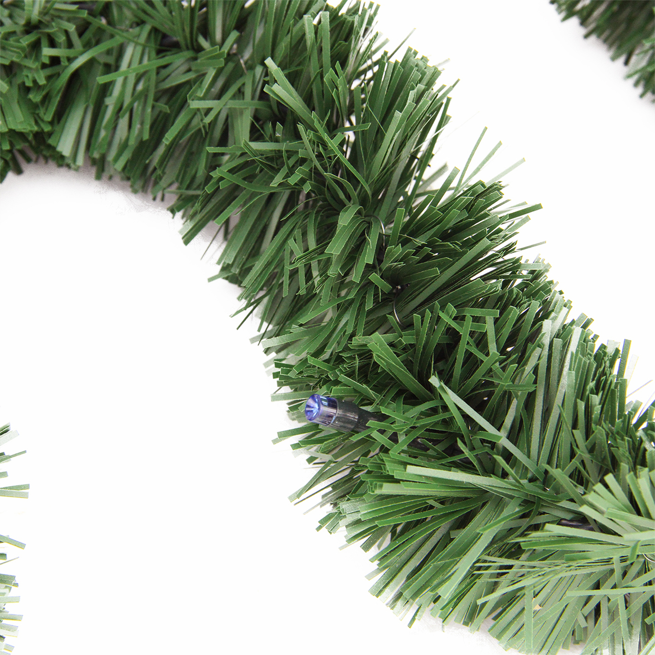 18 pre lit battery operated twinkling green pine artificial christmas garland multi led lights 31524359 - Battery Operated Christmas Garland