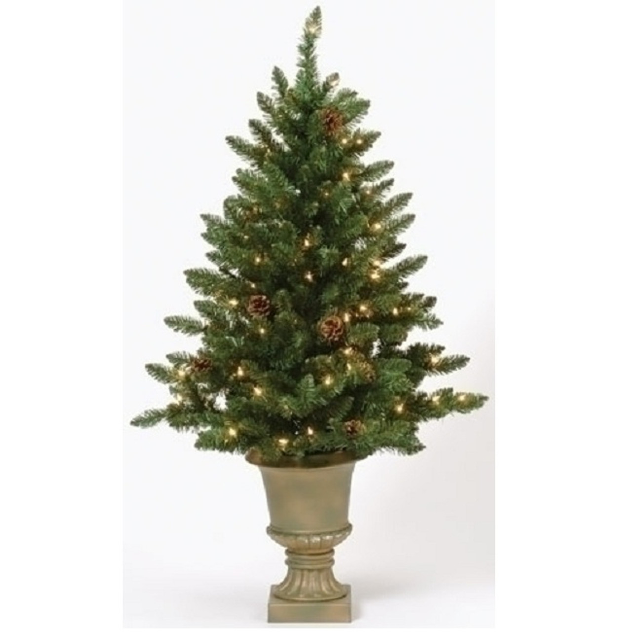 4 pre lit potted freemont pine artificial christmas tree clear lights 31383981 - Potted Artificial Christmas Trees
