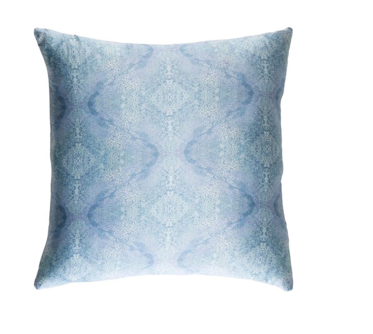 18? Icy & Ribbon Blue Woven Decorative Throw Pillow-Down Filler Christmas Central