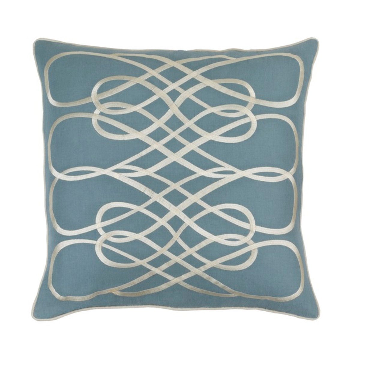 Blue Down Throw Pillows : 20? Heather Blue & Cashmere White Woven Decorative Throw Pillow - Down Filler Christmas Central