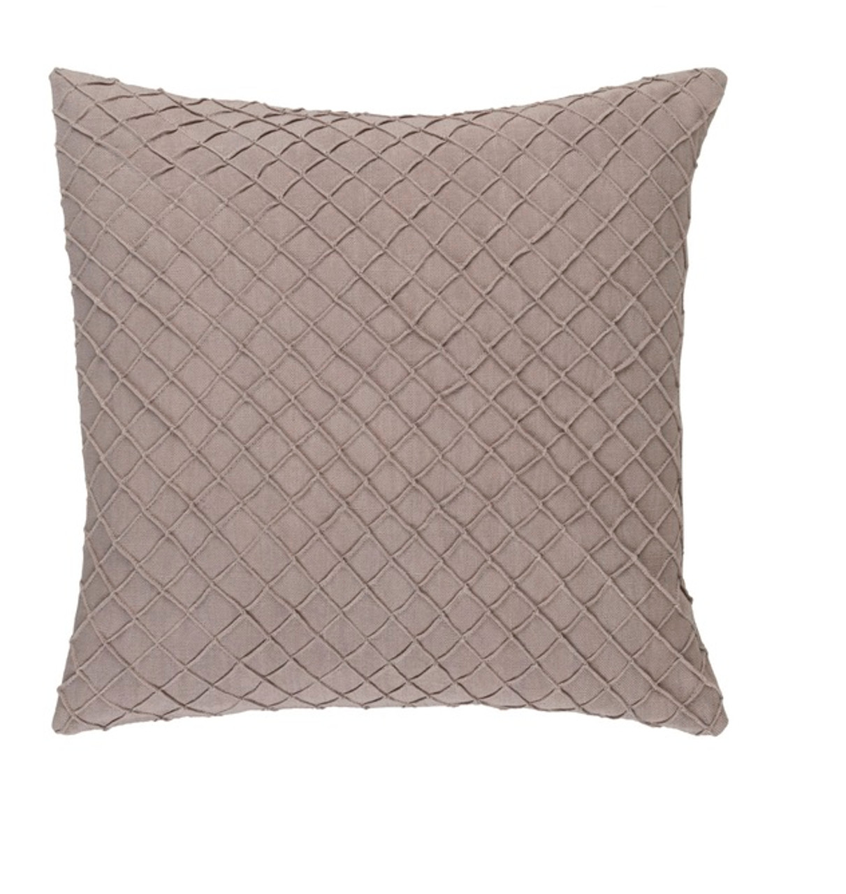 Throw Pillow Fillers : 20? Taupe Brown Woven Decorative Throw Pillow-Down Filler Christmas Central