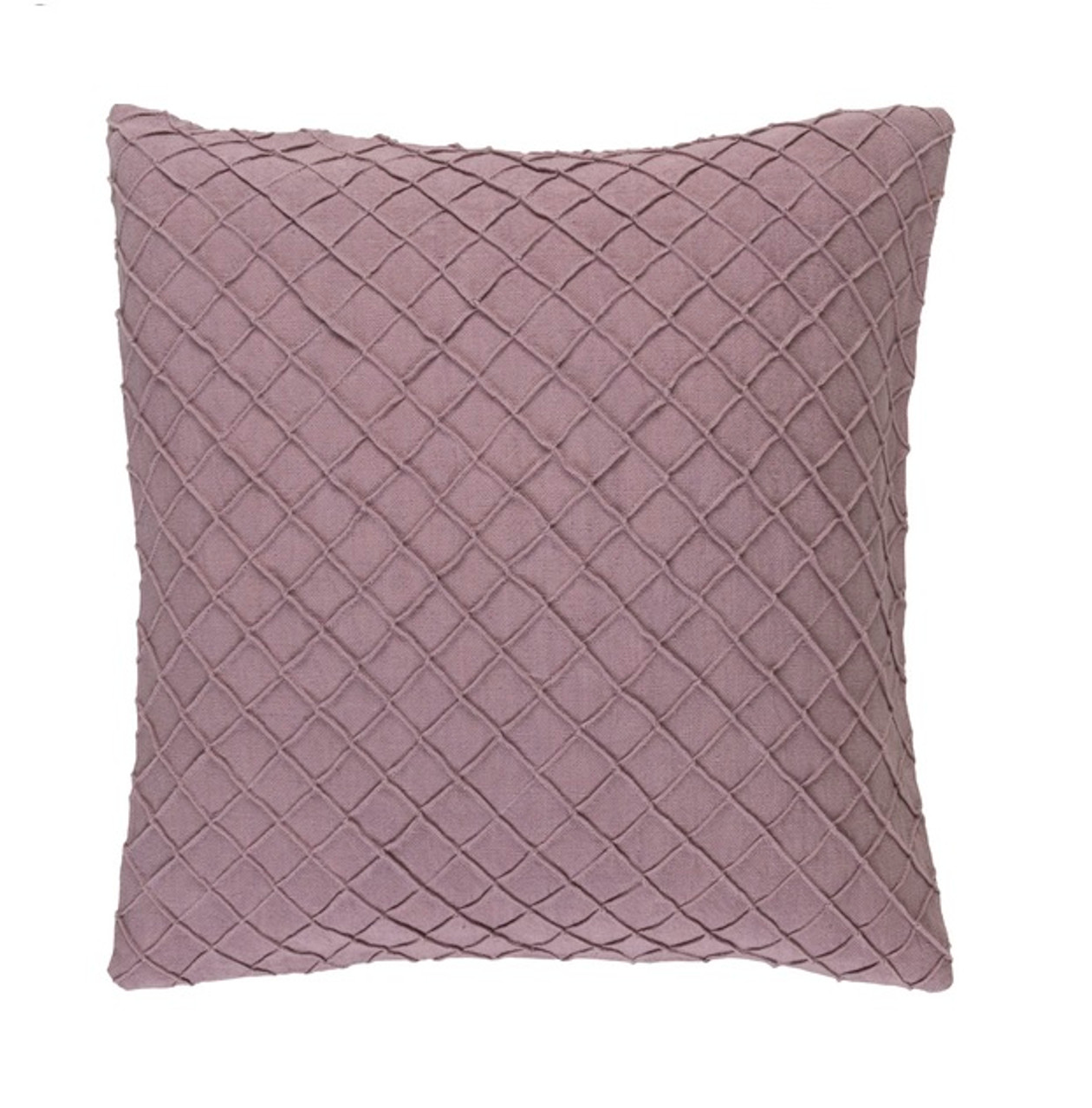 Throw Pillow Fillers : 18? Purple Mauve Woven Decorative Throw Pillow-Down Filler Christmas Central