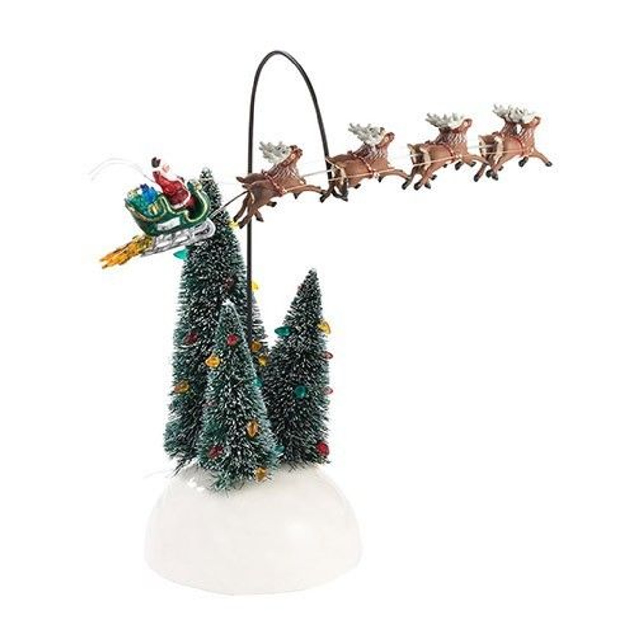 department 56 national lampoons christmas vacation led lighted animated flaming sleigh 31422348 - National Lampoons Christmas Decorations