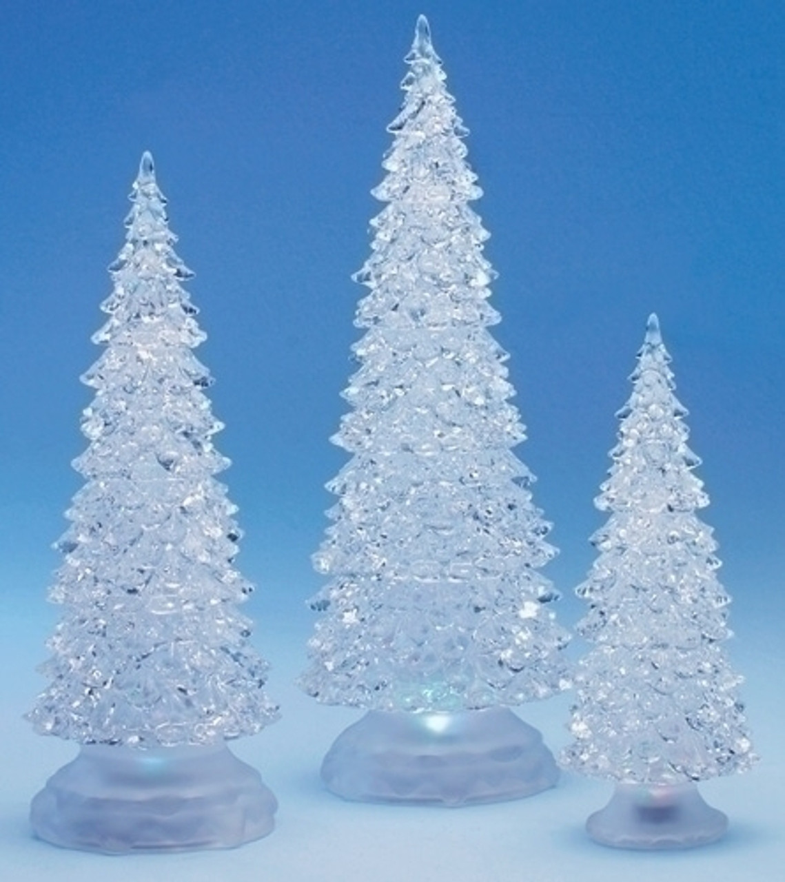 3 piece icy crystal color changing christmas trees led lights 9728289 - Color Changing Christmas Tree Lights