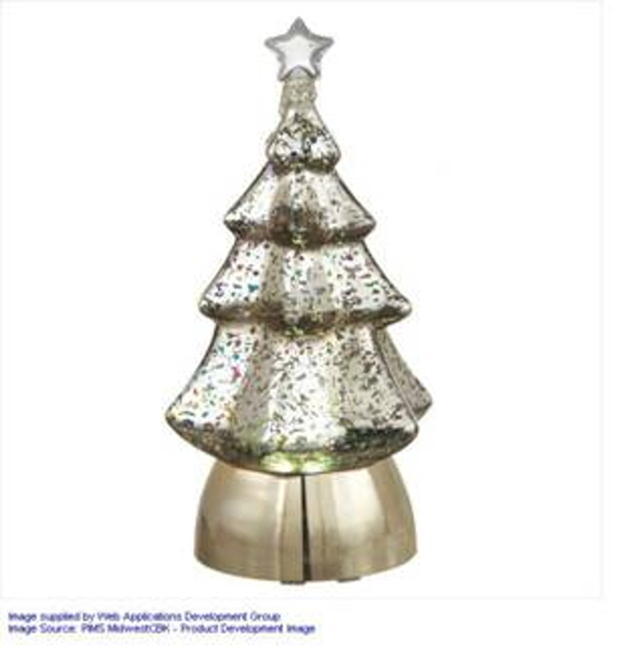 85 silver colored christmas tree lighted tabletop figure 31424575