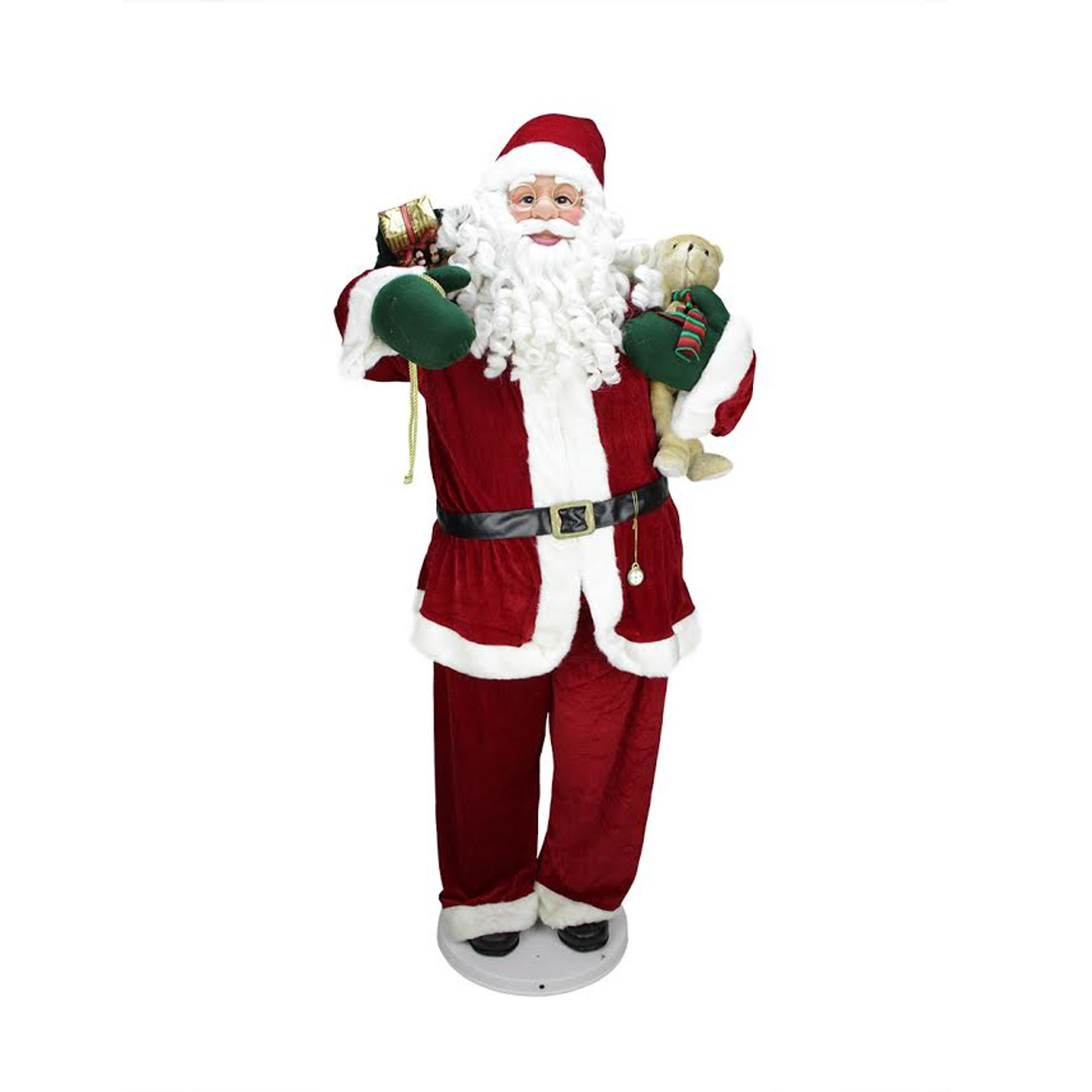 """Christmas Decorations Life Size Santa: 58"""" Deluxe Life-Size Animated & Musical Decorative Dancing"""