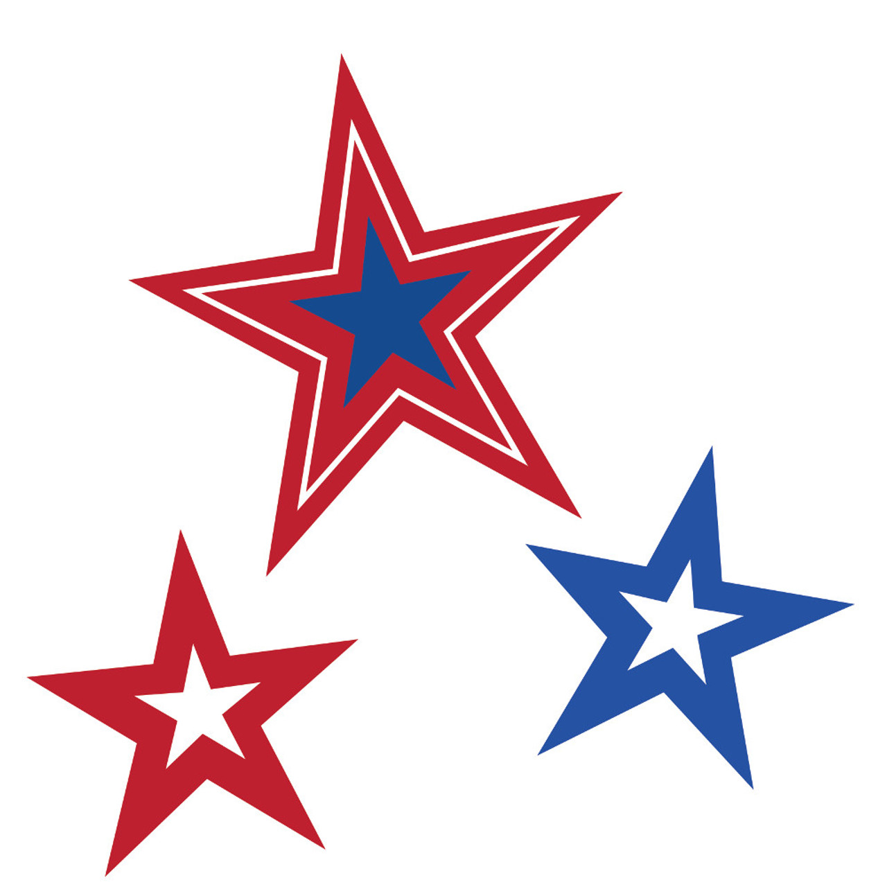 Club Pack of 36 Patriotic Red, White & Blue Star Cutout ... - photo#7