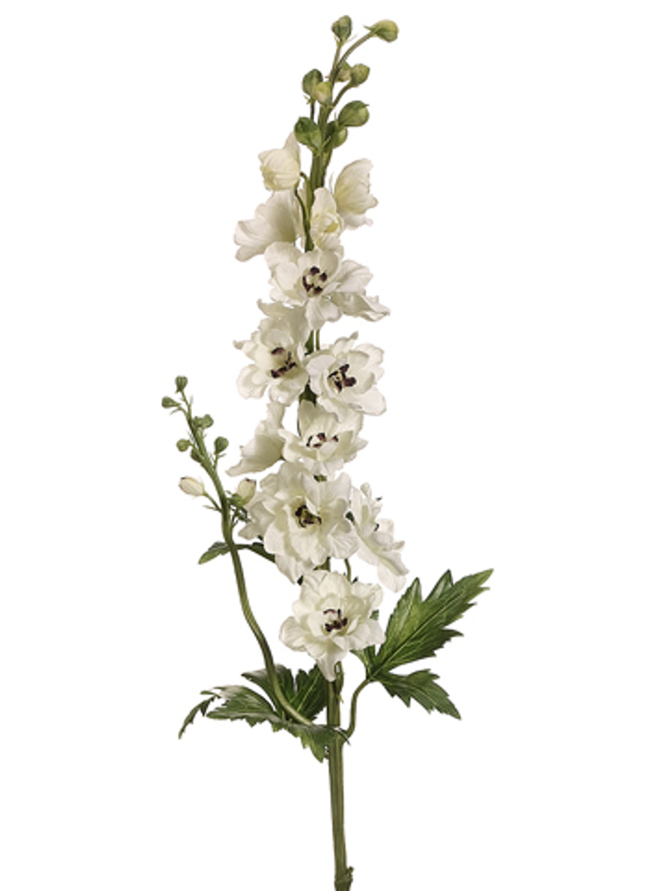 Club Pack Of 12 Artificial Cream Delphinium Silk Flower Sprays 35