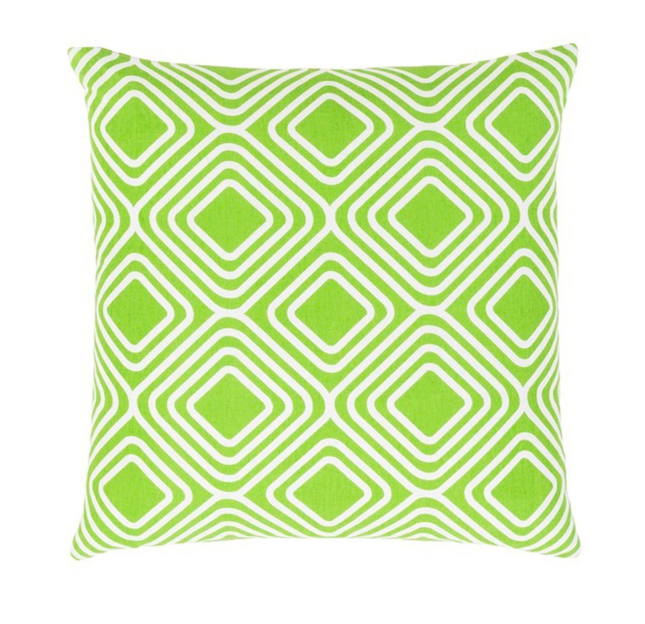 Lime Green Chevron Throw Pillow : 20