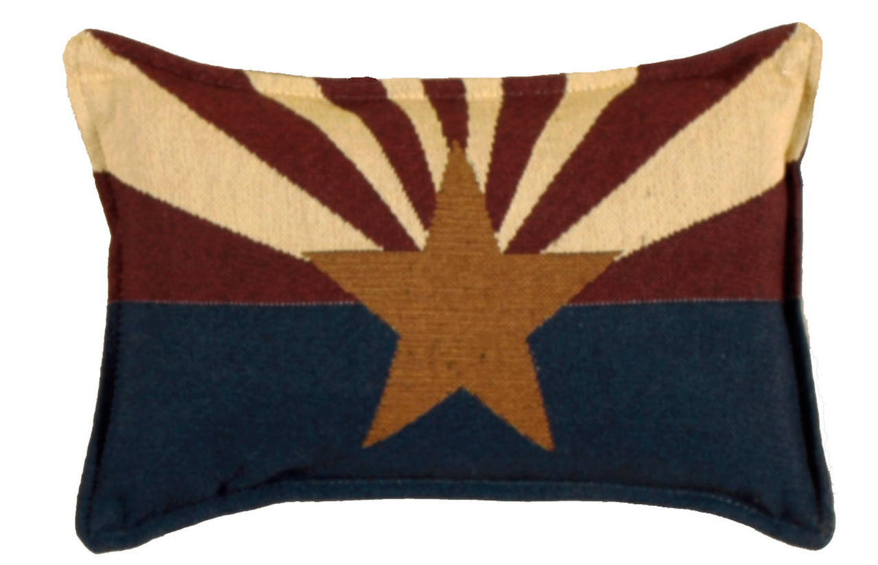 Throw Pillows Set Of 4 : Set of 4 State Flag of Arizona Rectangular Decorative Tapestry Throw Pillows 12