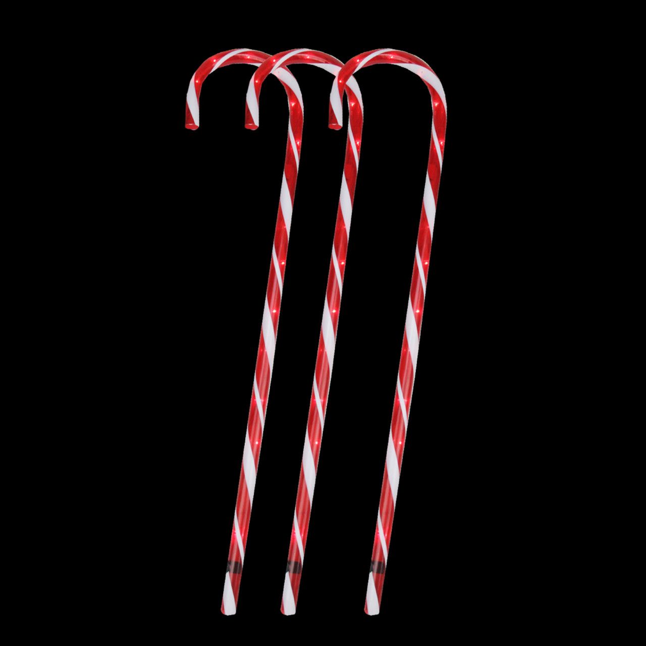 pack of 3 lighted candy cane pathway markers outdoor christmas decorations 28 28103612
