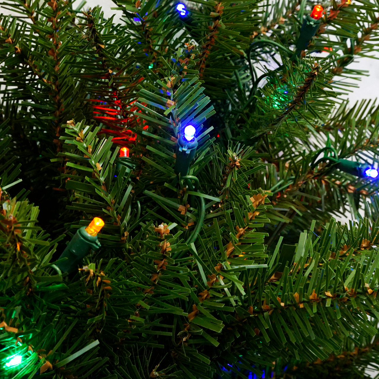 4\' Pre-Lit Northern Pine Full Artificial Christmas Tree - Multi ...