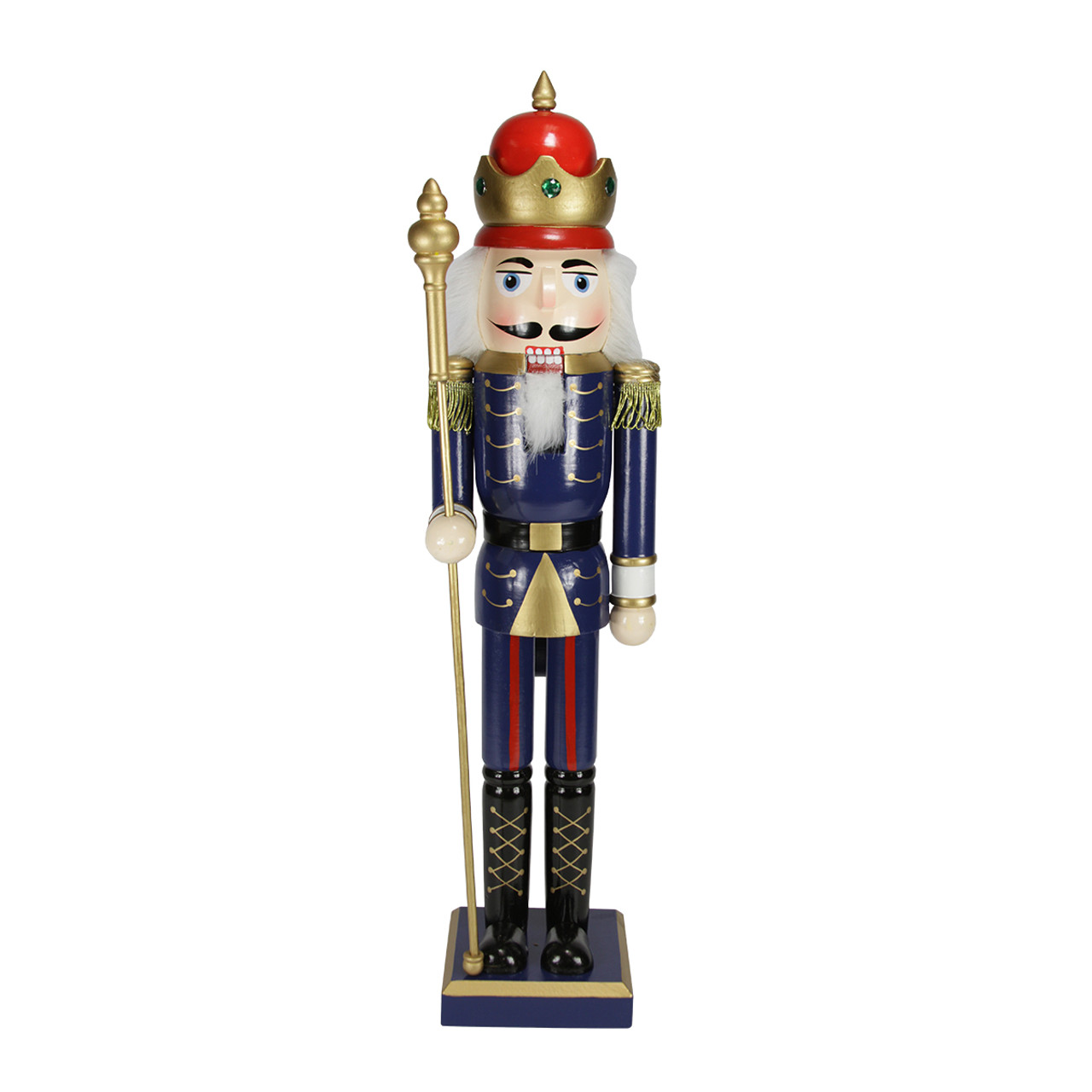 "24 Fancy Nail Art Designs That You Ll Love: 24"" Decorative Blue King Wooden Christmas Nutcracker With"