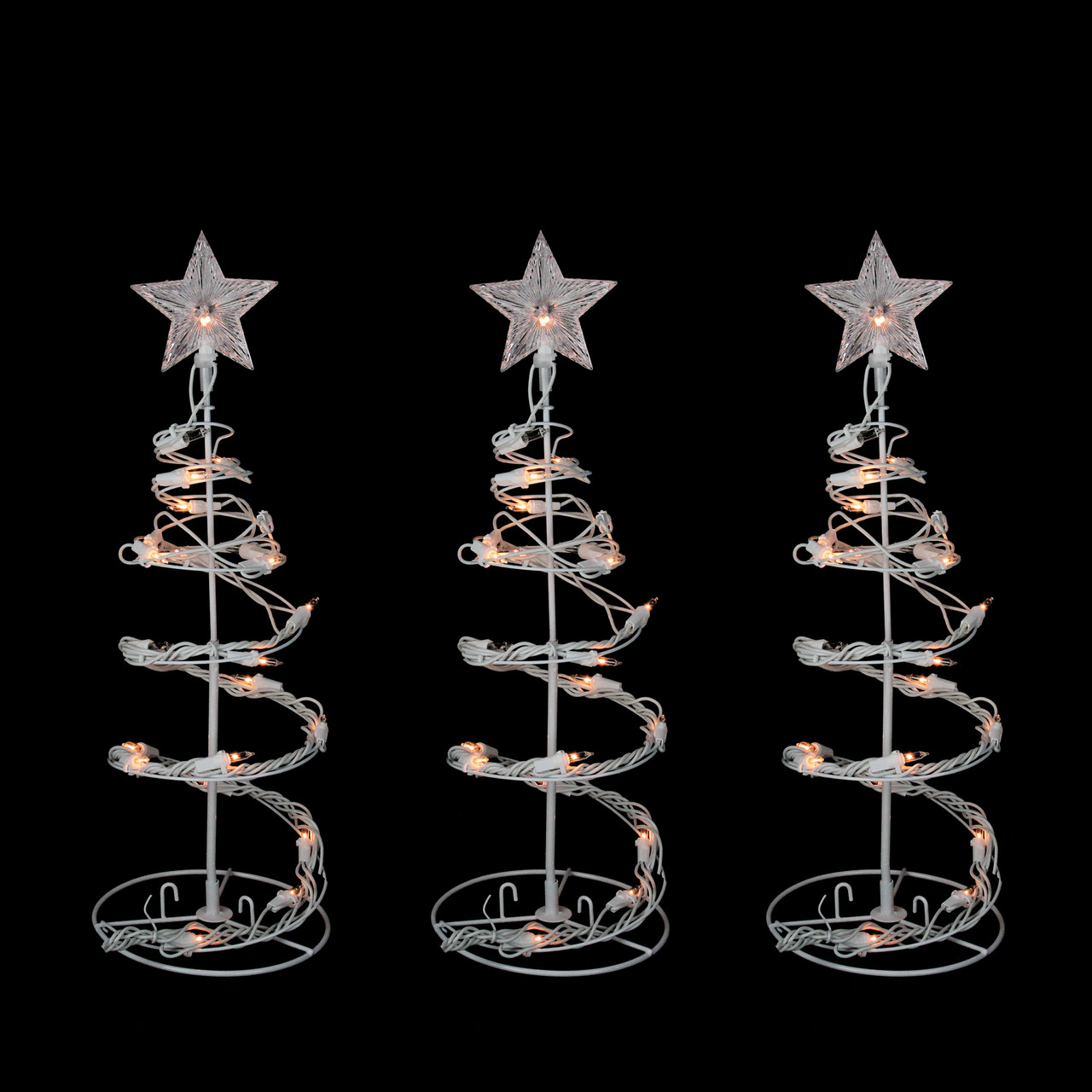 Set of 3 Clear Lighted Outdoor Spiral Walkway Christmas Trees Outdoor Decorations 18  - 31463880 & Set of 3 Clear Lighted Outdoor Spiral Walkway Christmas Trees ...