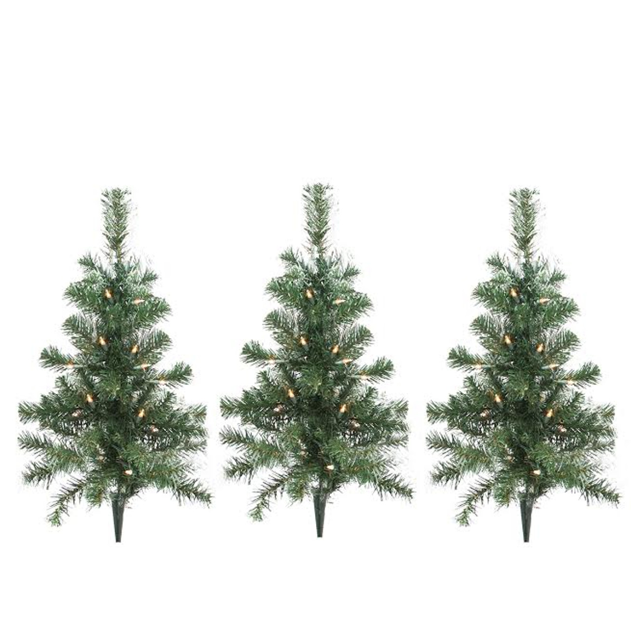 pack of 3 lighted christmas tree driveway or pathway markers outdoor christmas decorations 31481164 - Lighted Christmas Tree Lawn Decoration