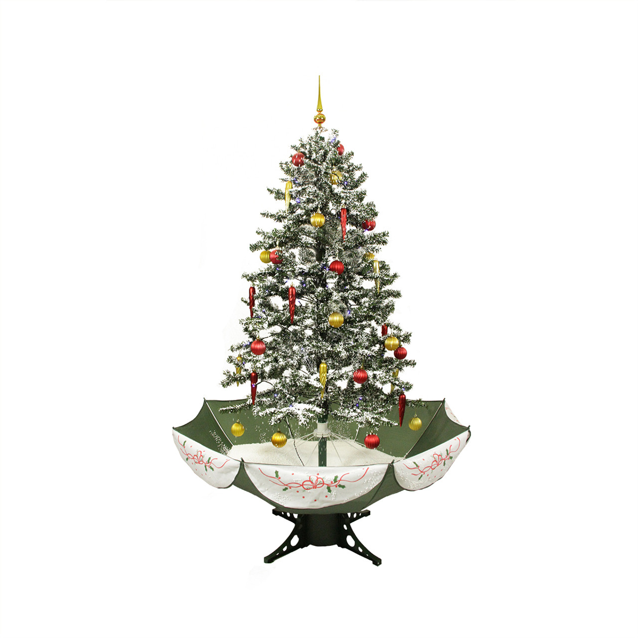 5.5' Pre-Lit Musical Snowing Artificial Christmas Tree ...