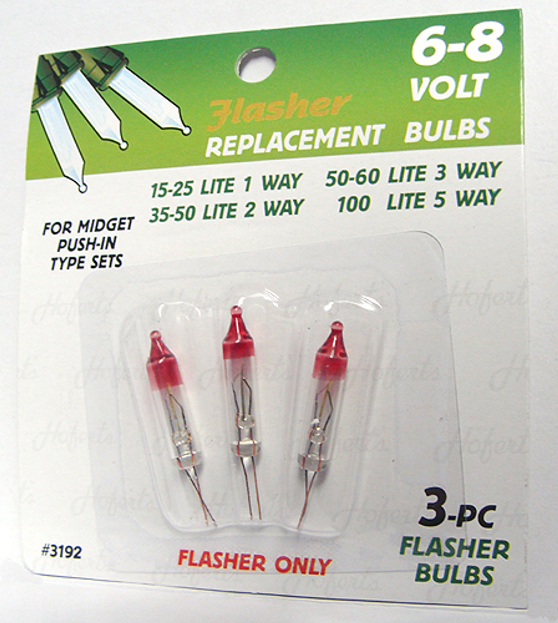 pack of 3 mini flasher replacement christmas light bulbs 6 8v 7608564