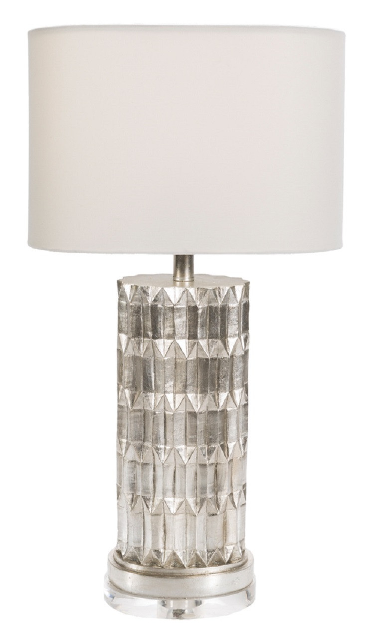 27.5u201dCelestial Harmony White Gold Table Lamp With Facet Look And Oval Moon  White Drum Shade   32215585