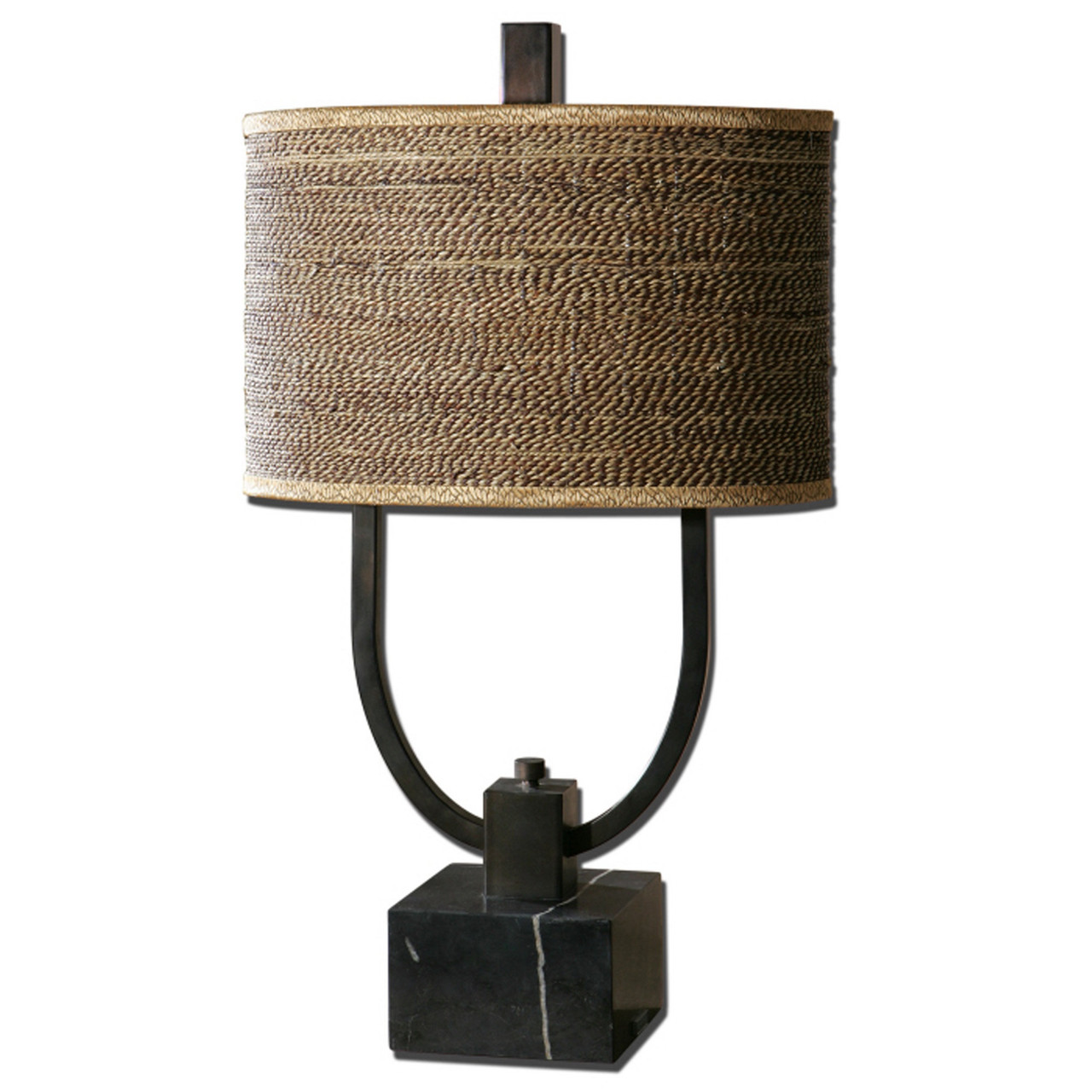 30 rustic bronze black marble woven rattan table lamp christmas 30 rustic bronze and black marble woven rattan table lamp 28266204 aloadofball Images