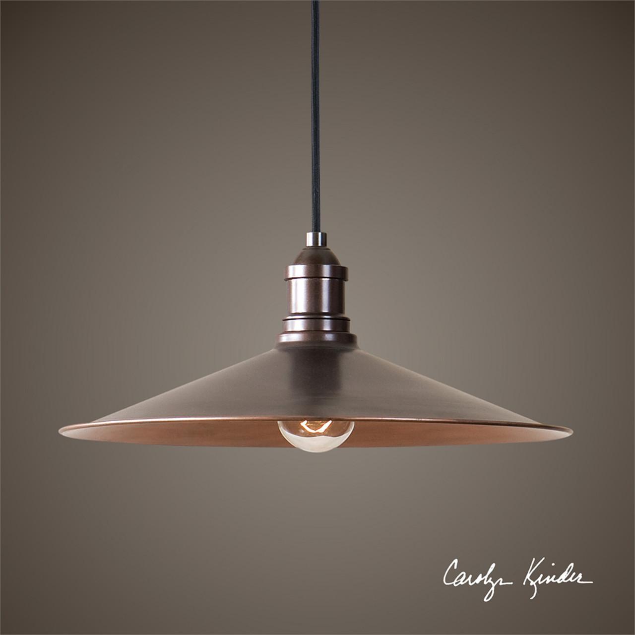 14 Yn Kinder Barnstead 1 Bulb Antique Copper Pendant Ceiling Light Fixture 31494856