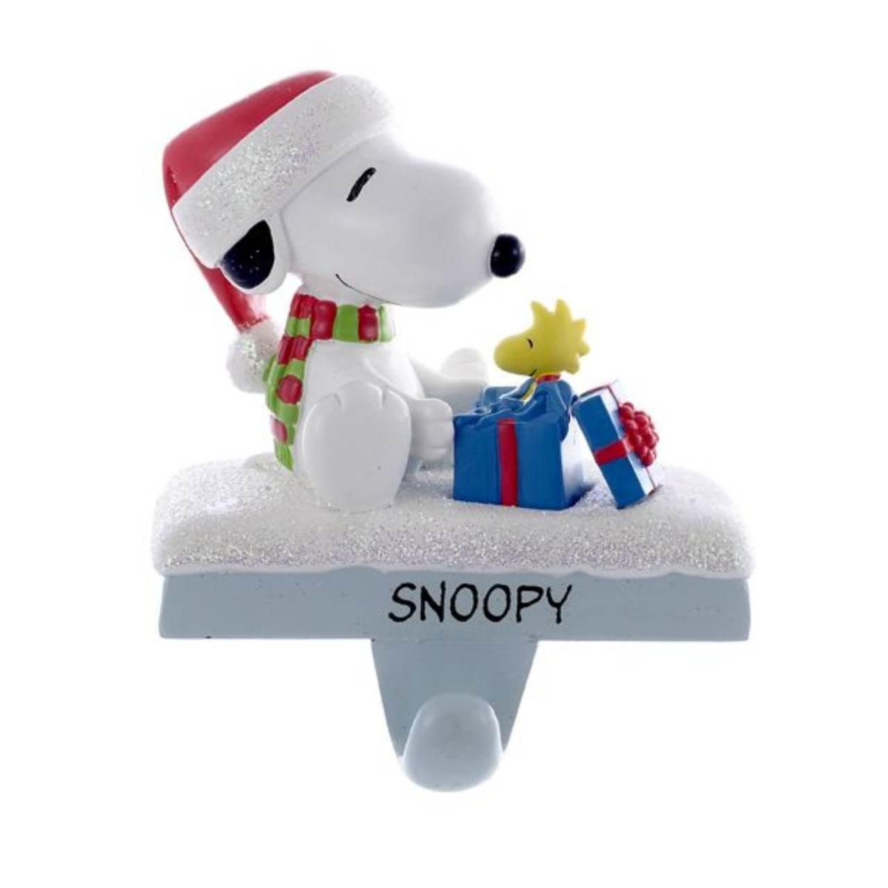 45 peanuts snoopy and woodstock present christmas stocking holder 31367354 - Snoopy Christmas Stocking