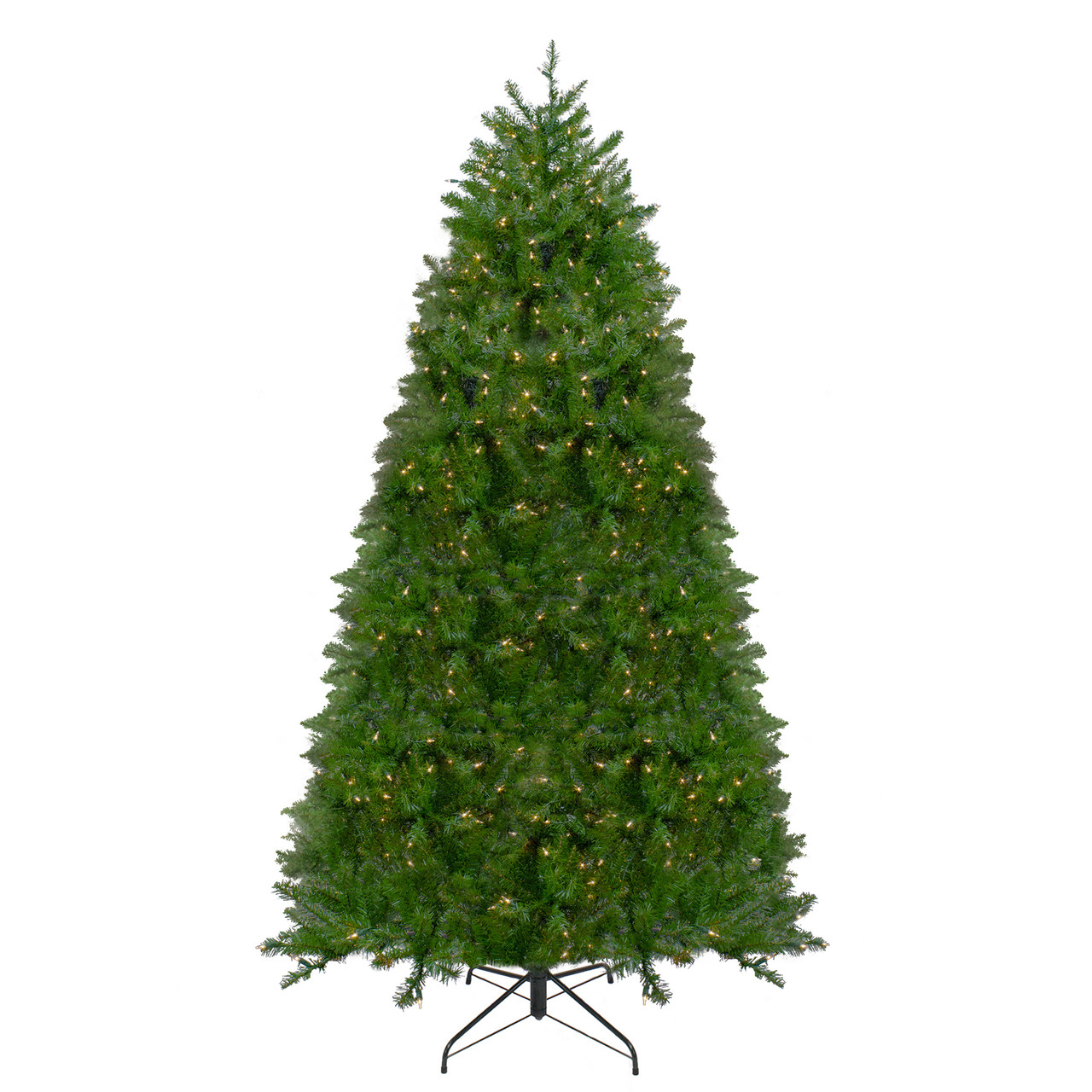 12 pre lit northern pine full artificial christmas tree warm clear led lights 31752848
