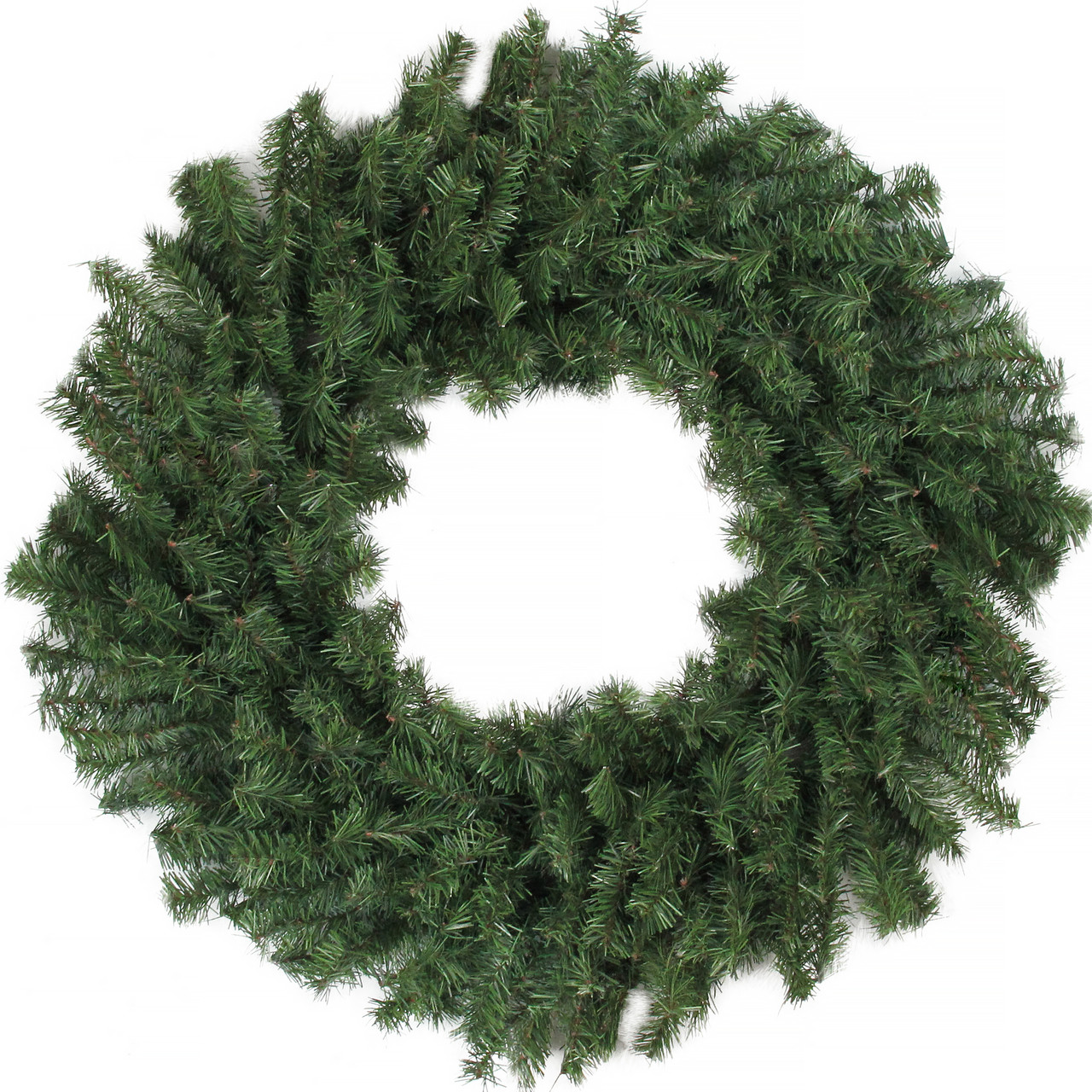 24 canadian pine artificial christmas wreath unlit christmas central