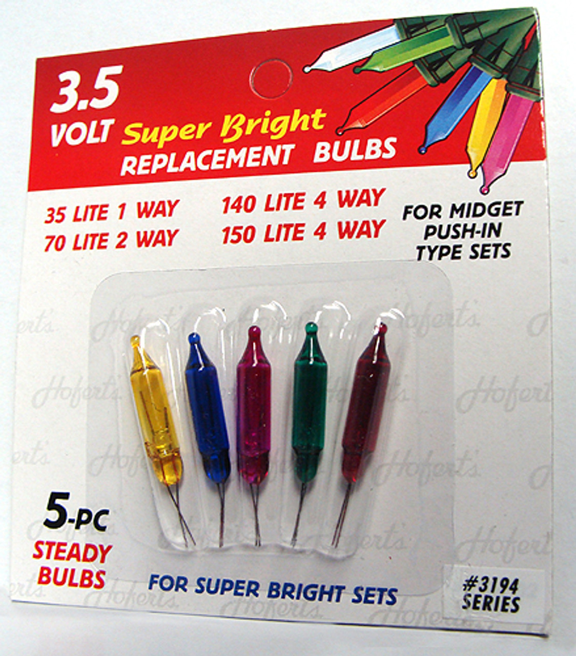 pack of 5 multi color push in mini replacement christmas light bulbs 35 volt 7608570