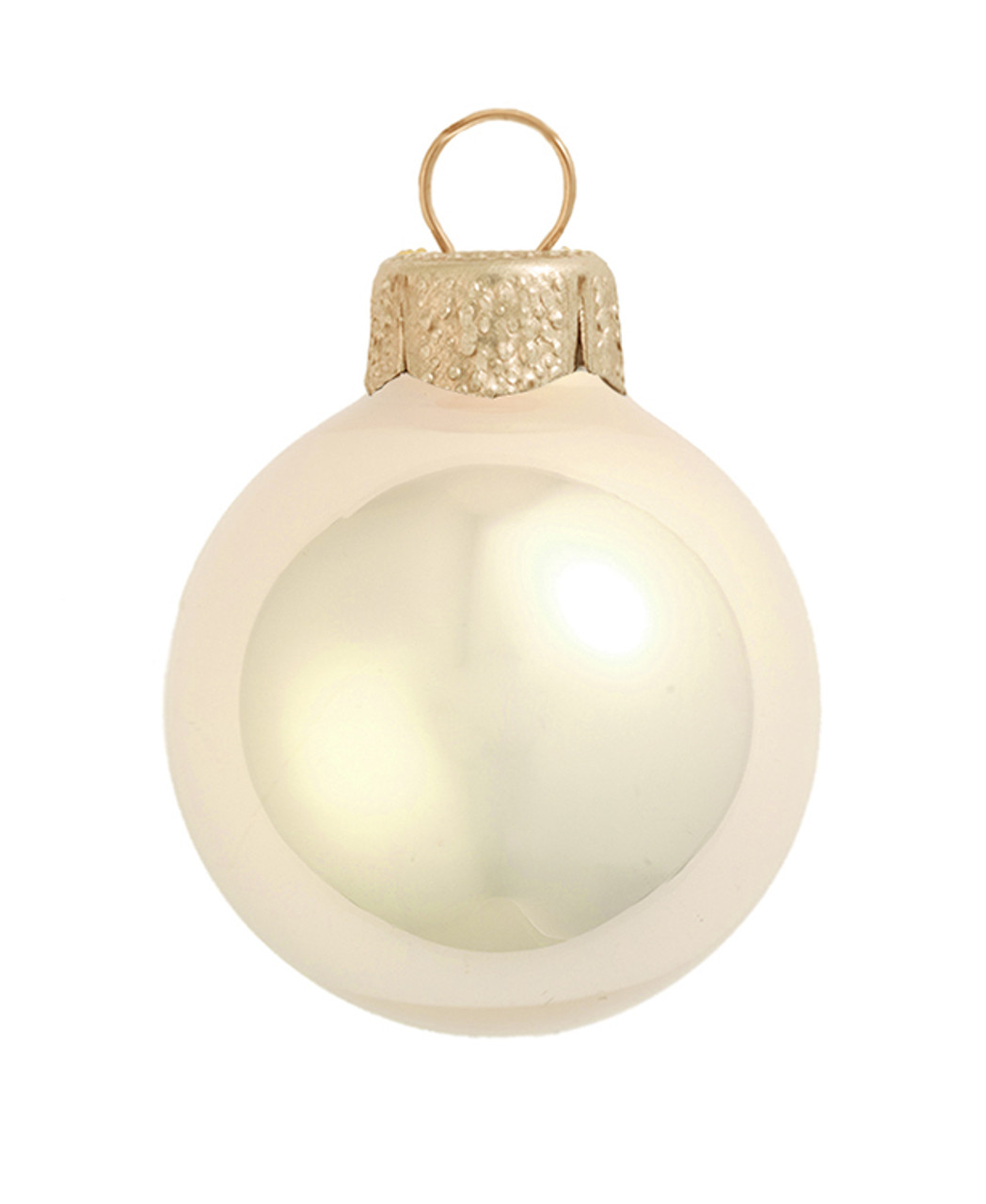 "4ct pearl champagne gold glass ball christmas ornaments 4 75"" (120mmwhitehurst"
