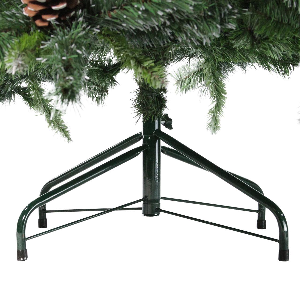 65 snowy delta pine with pine cones artificial christmas tree unlit 32607703 - Christmas Tree With Pine Cones