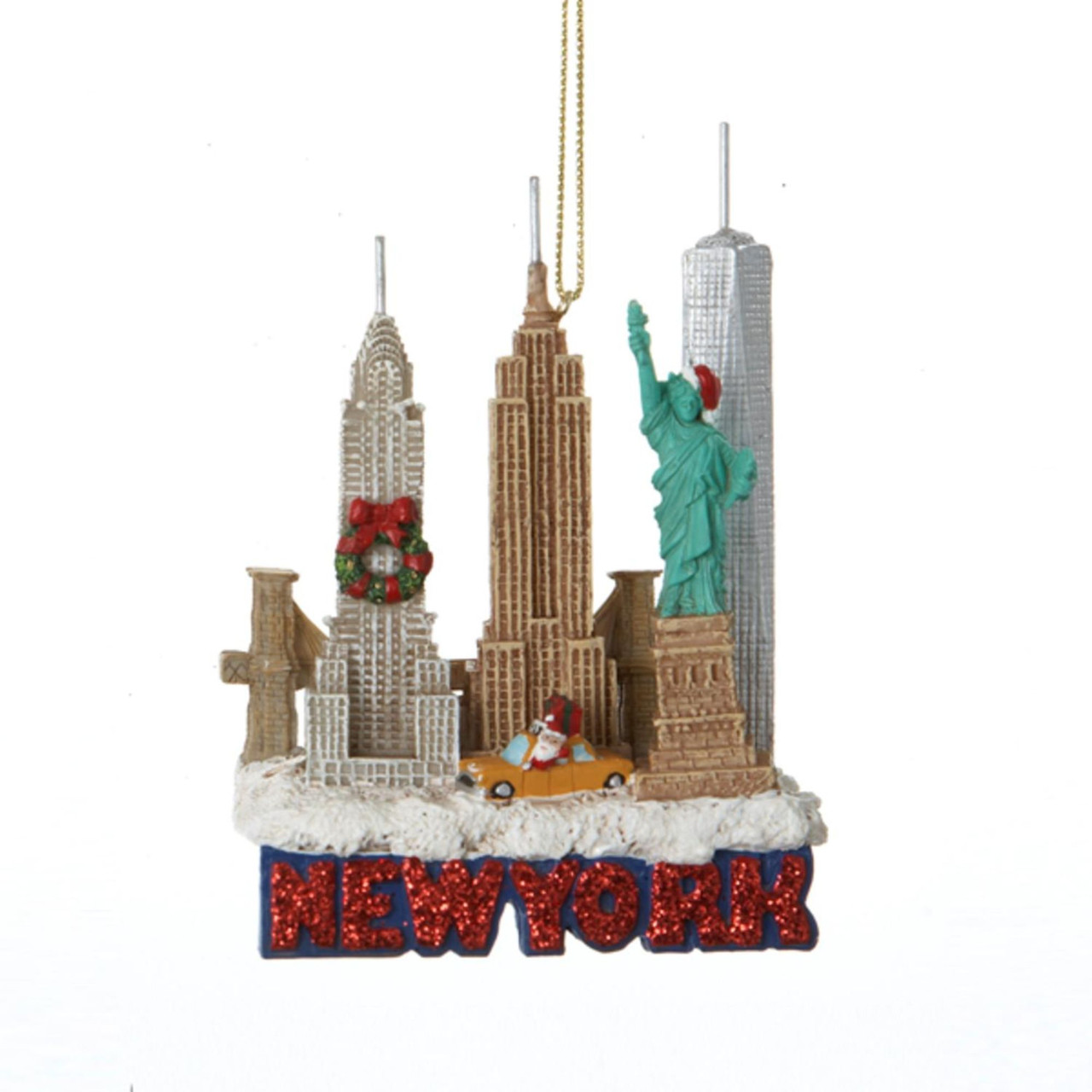 Pack of 12 Glittered US City Travel New York Christmas Ornaments 3.5 ...