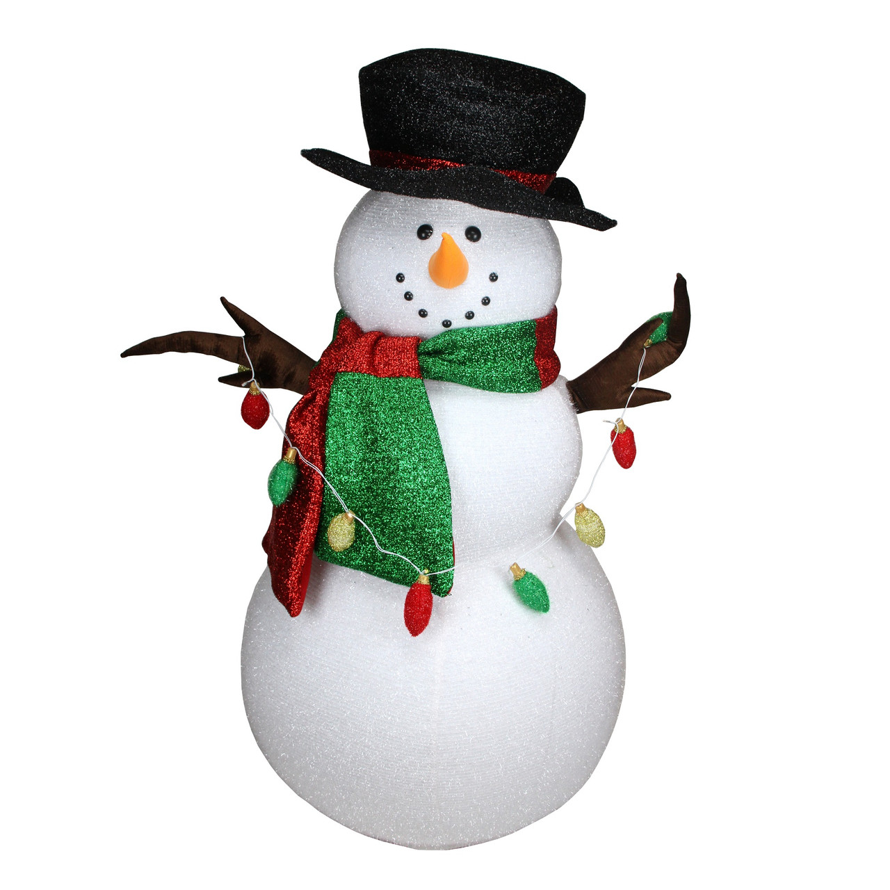 5\' Musical Inflatable Snowman Christmas Outdoor Decoration with LED ...