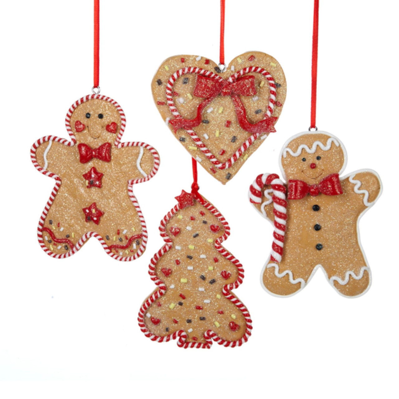 24 Gingerbread Kisses Claydough Men, Tree & Heart Christmas ...