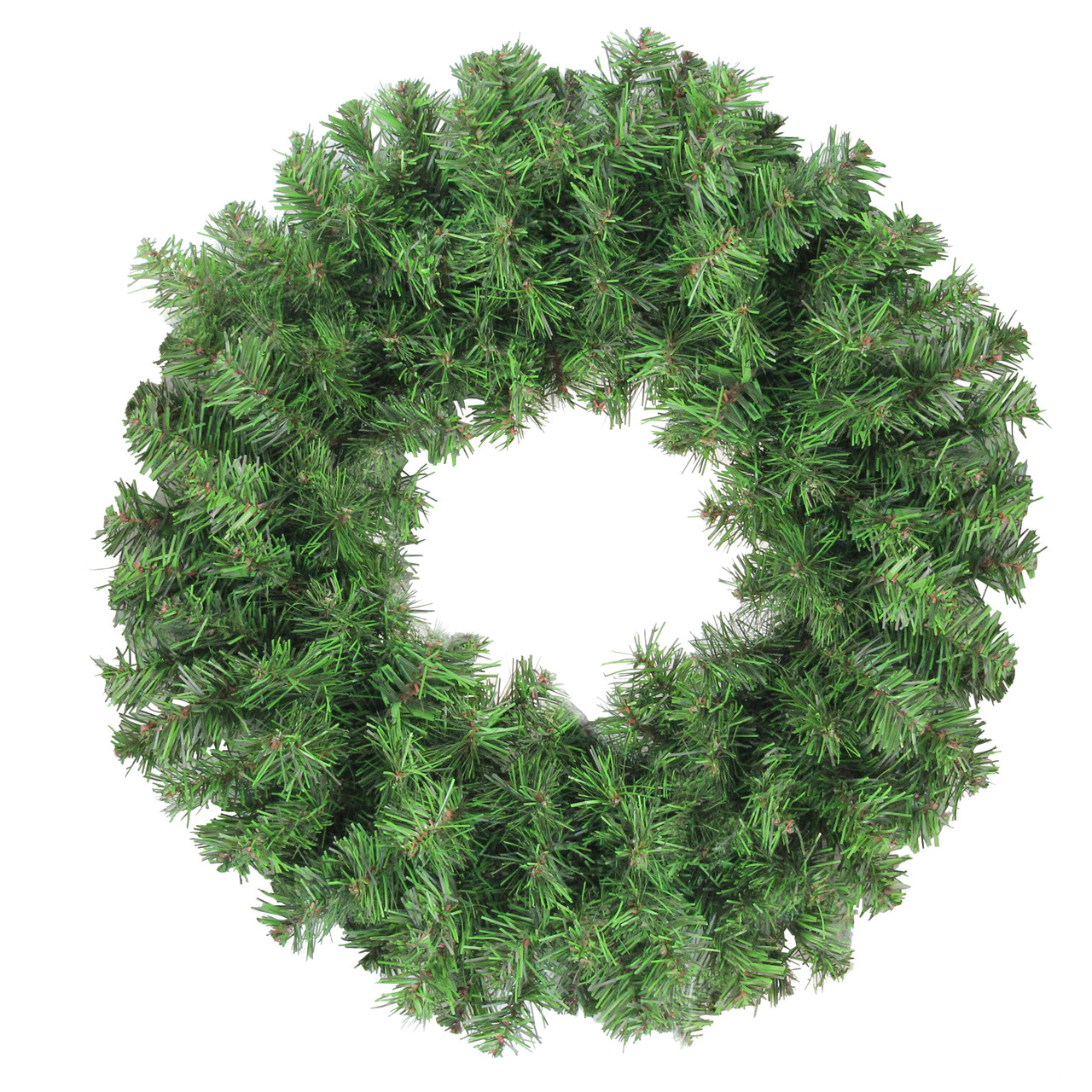 16 colorado spruce 2 tone artificial christmas wreath unlit christmas central - Green Christmas Garland