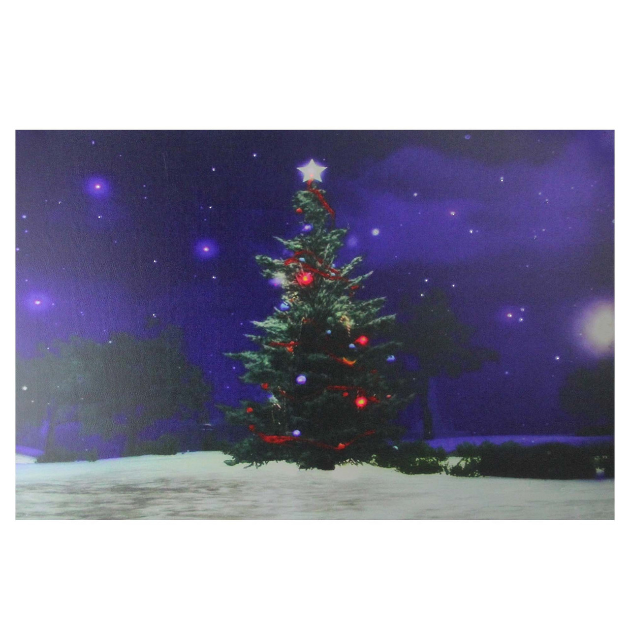 fiber optic and led lighted color changing christmas tree canvas wall art 235 x 155 32621283