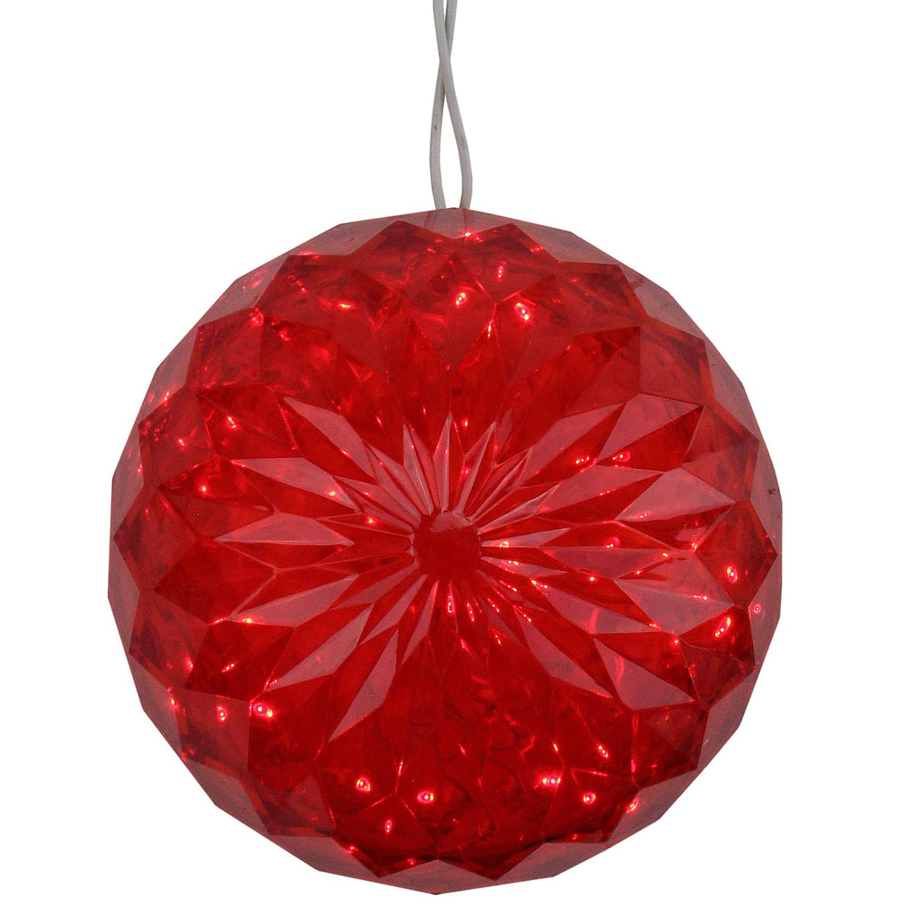 6 red led lighted hanging christmas crystal sphere ball outdoor 6 red led lighted hanging christmas crystal sphere ball outdoor decoration 32606584 aloadofball Choice Image