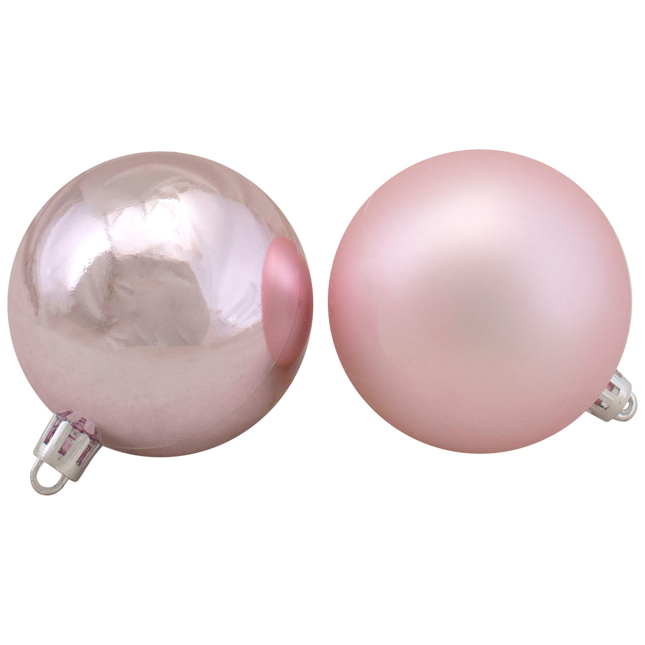 60ct blush pink shiny and matte shatterproof christmas ball ornaments 25 60mm 32621827