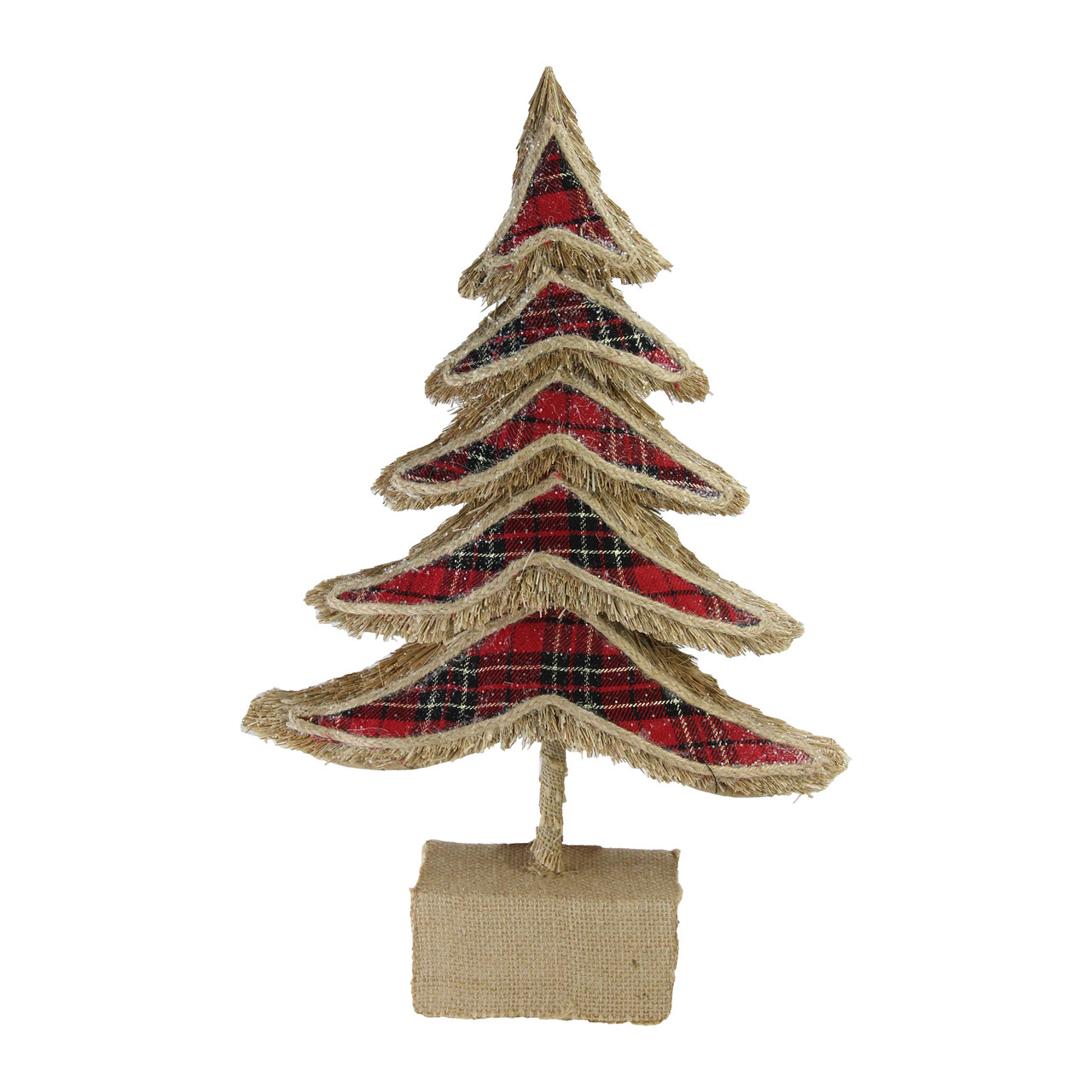 17 red plaid country rustic tree christmas table top decoration 32621851