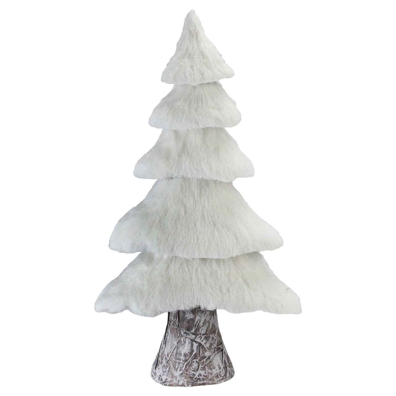 1725 small rustic birch wood tree with faux snow canopy christmas decoration 32623024