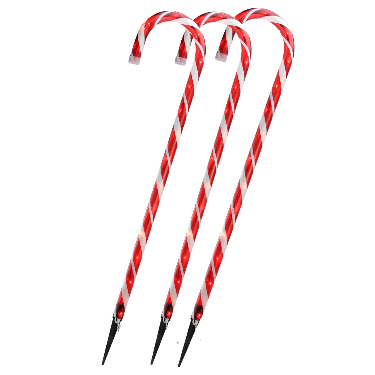 Set of 3 lighted candy cane christmas outdoor decorations 28 set of 3 lighted candy cane christmas outdoor decorations 28 32622998 workwithnaturefo