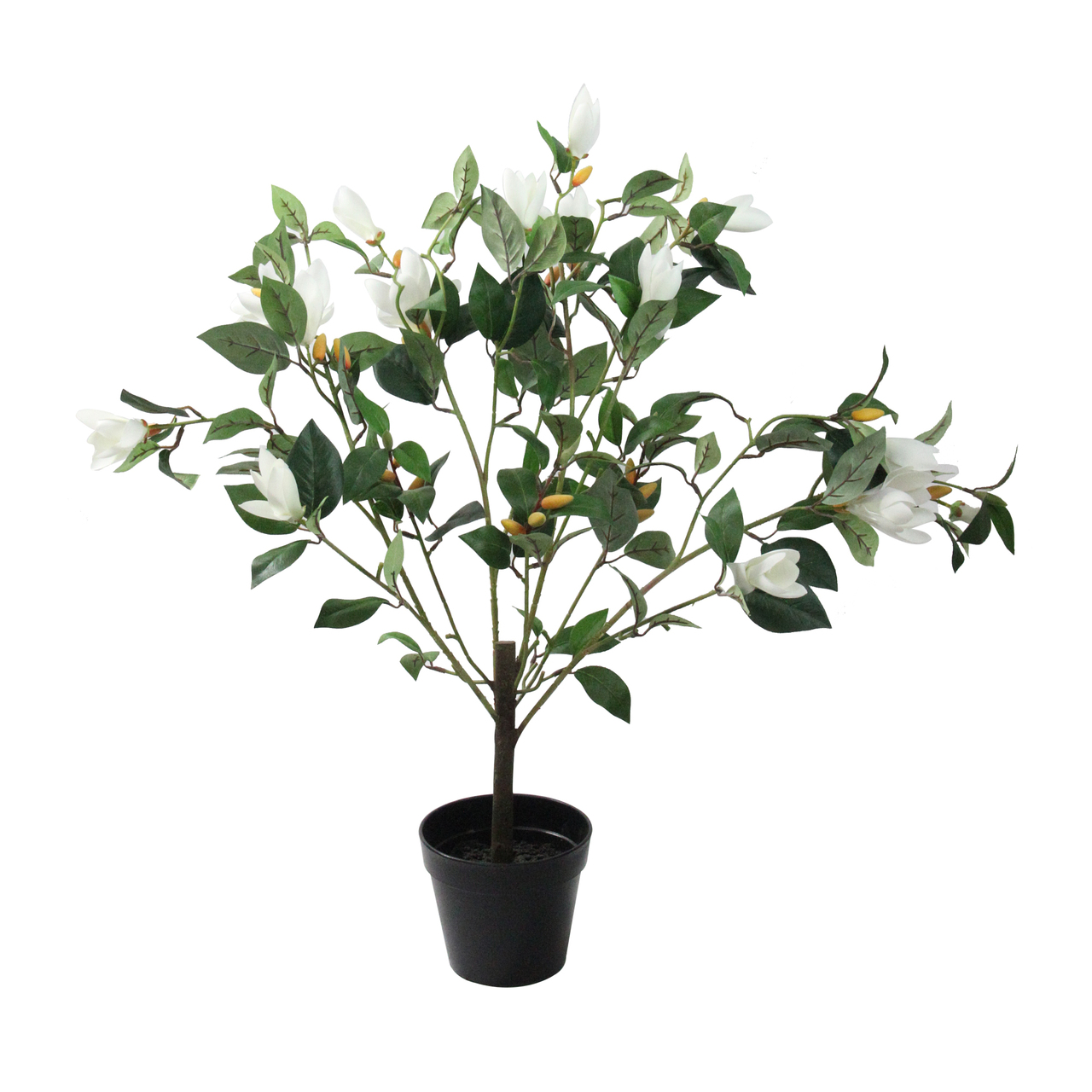 325 Artificial Potted White Lily Magnolia Flowering Tree