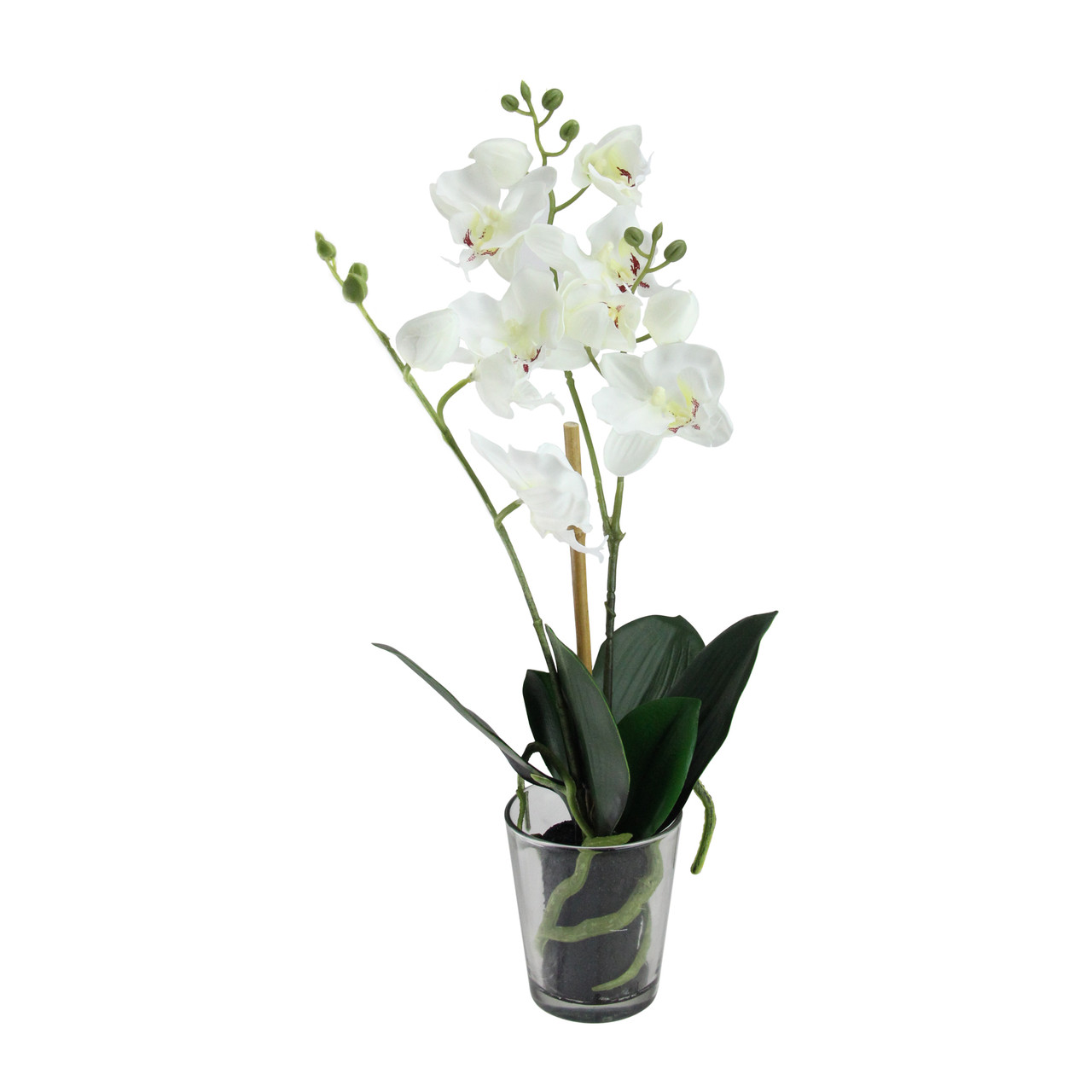 185 Potted Phalaenopsis Orchid Artificial Silk Flower Arrangement