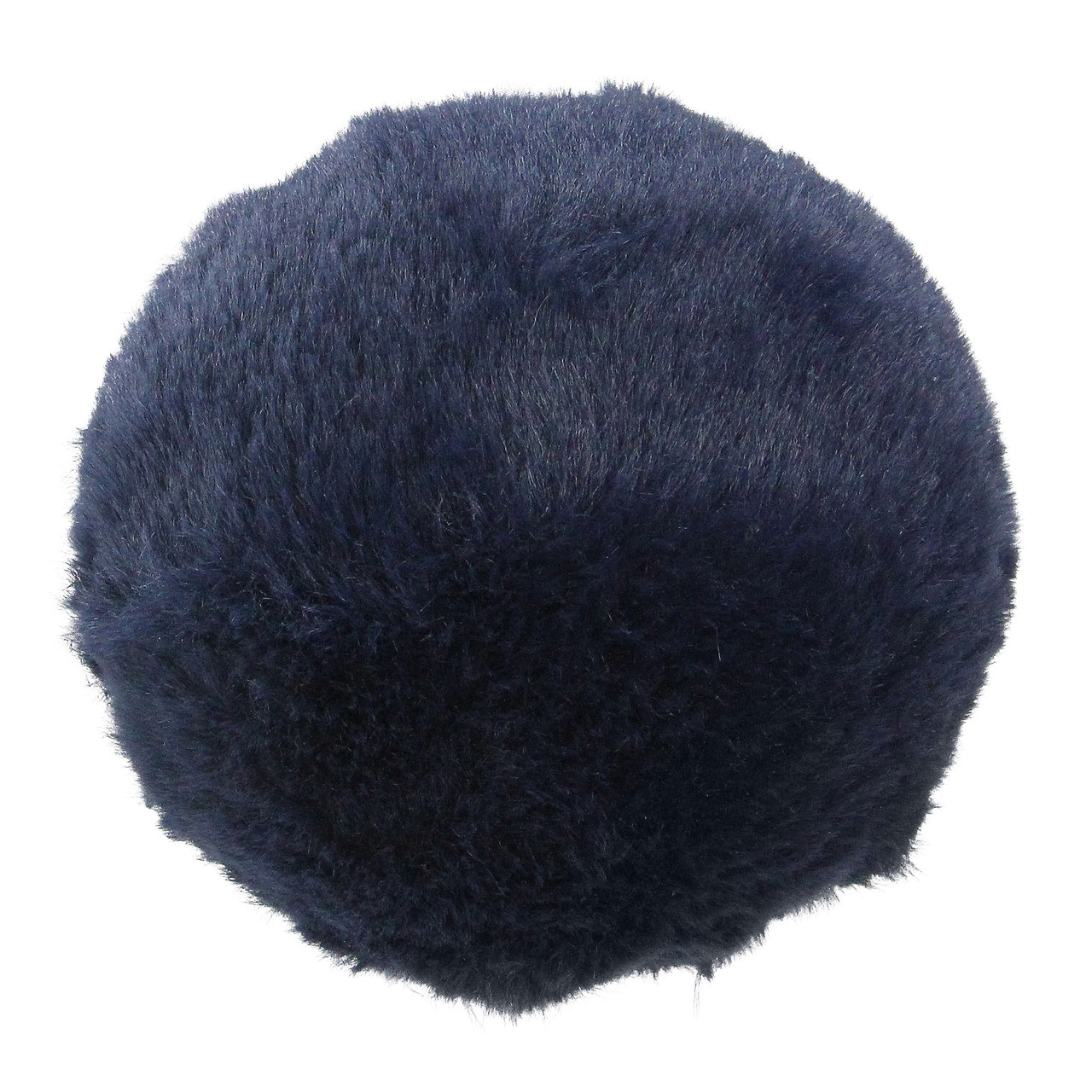 45 navy blue faux fur ball christmas ornament decoration 32627488