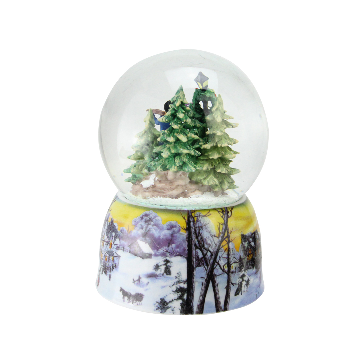 6 christmas carolers winter scene musical snow globe 32629127 - Christmas Musical Snow Globes