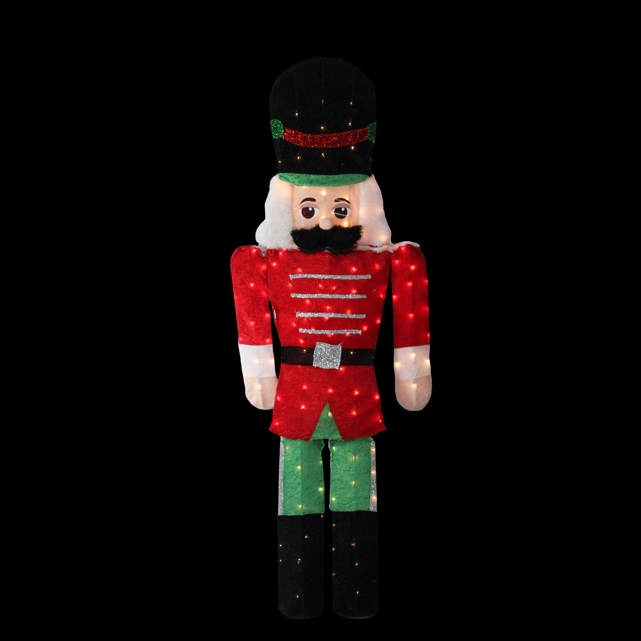 6 pre lit candy cane lane 2 d toy soldier christmas outdoor decoration 32606673