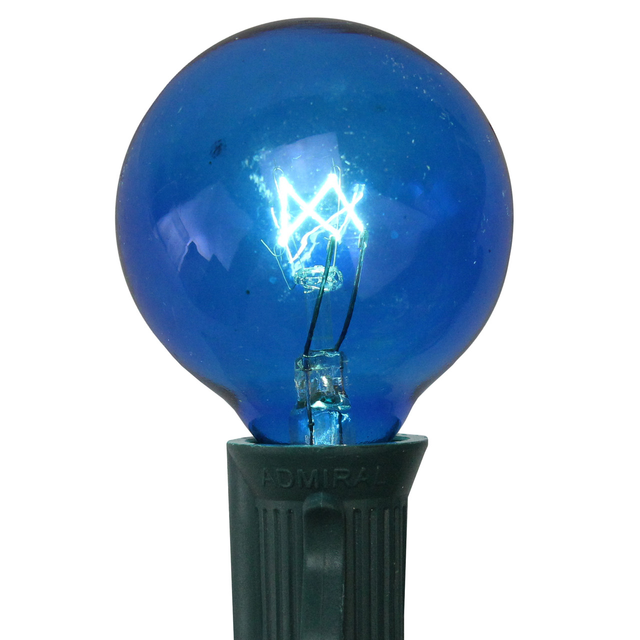 Pack of 25 Incandescent Blue G40 Globe Christmas ...